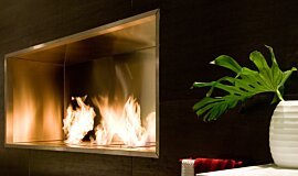 Fuori Salone 2010 Linear Fires Fireplace Insert Idea