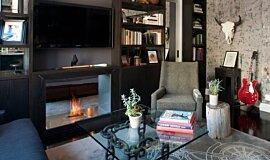 New York Loft Indoor Fireplaces Fireplace Insert Idea