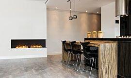 Kitchen Area Indoor Fireplaces Flex Fireplace Idea