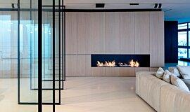N Apartment Tel Aviv Linear Fires Ethanol Burner Idea