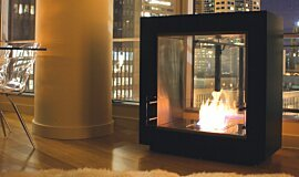 5th Madison - Private Residence See-Through Fireplaces Designer Fireplace Idea