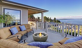 Outdoor Balcony Residential Fireplaces Fire Table Idea