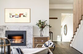 Firebox 720CV Wall Mounted Fireplace - In-Situ Image by EcoSmart Fire
