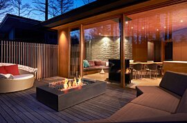 Wharf Outdoor Fireplace - In-Situ Image by EcoSmart Fire