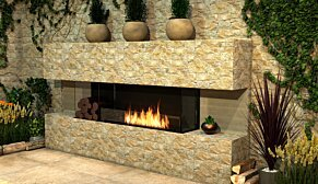 Flex 122BY.BX2 Flex Fireplace - In-Situ Image by EcoSmart Fire
