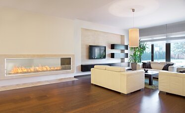 Living Area - Residential Fireplace Ideas