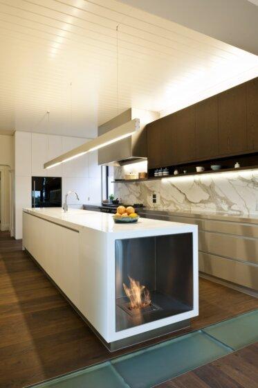 Celebrity Chef's Kitchen  - Kitchen Fireplace Ideas