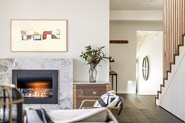 Interior Blossoms - Residential Fireplace Ideas