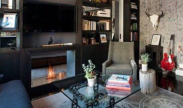 New York Loft - Residential Fireplace Ideas
