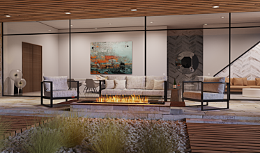 Outdoor Setting - Residential Fireplace Ideas