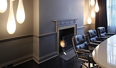 Manchester Square - Built-In Fireplace Ideas