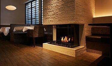 Casa Bianca Cafe - Commercial Fireplace Ideas