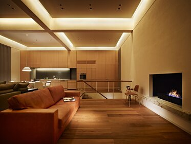 Personal Villa - Residential Fireplace Ideas