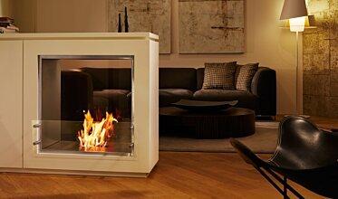 Merkmal Showroom - Built-In Fireplace Ideas