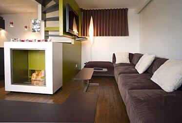 Chalet LaPlagne - Residential Fireplace Ideas