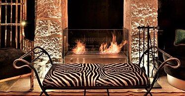 Villa Brown Jerusalem Hotel - Hospitality Fireplace Ideas
