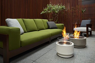 Merkmal Showroom - Commercial Fireplace Ideas