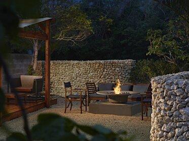 Okinawa Resort - Residential Fireplace Ideas