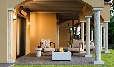 Outdoor space - Residential Fireplace Ideas