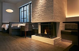 Grate 18 Ethanol Fireplace - In-Situ Image by EcoSmart Fire