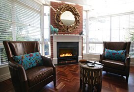 Grate 36 Ethanol Fireplace - In-Situ Image by EcoSmart Fire