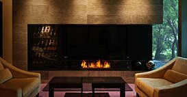 XL1200 Ethanol Fireplace - In-Situ Image by EcoSmart Fire
