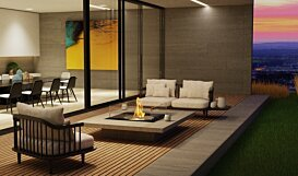 Square 22 Ethanol Fireplace - In-Situ Image by EcoSmart Fire