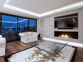 Private Residence - Flex 68SS Indoor Fireplace by EcoSmart Fire