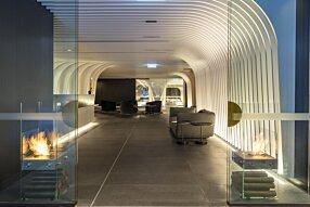 SKYE Suites Sydney - Ghost Designer Fireplace by EcoSmart Fire