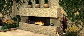 Outdoor Setting - Flex 86BY.BXL Fireplace Insert by EcoSmart Fire