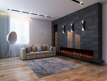 EL100 Wall Mounted Fireplace - In-Situ Image by EcoSmart Fire