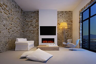 EL40 Wall Mounted Fireplace - In-Situ Image by EcoSmart Fire