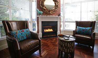 Private Residence - Built-In Fireplaces