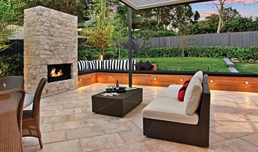 Private Residence - Outdoor Fireplace Ideas