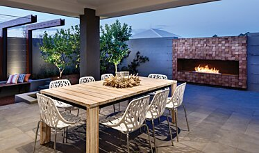 The Brindabella - Outdoor Fireplace Ideas