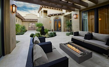 Courtyard - Outdoor Fireplace Ideas