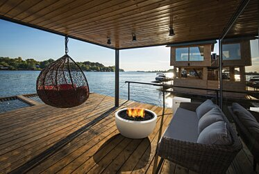 Waterfront Dock - Outdoor Fireplace Ideas