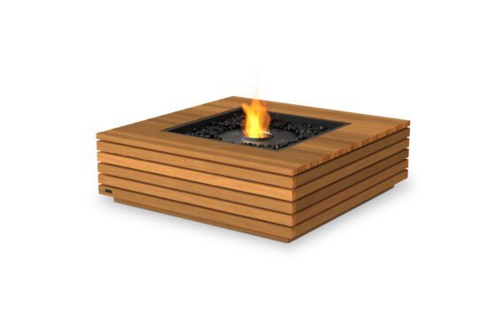 Base 40 Fire Table - Ethanol - Black / Teak by EcoSmart Fire