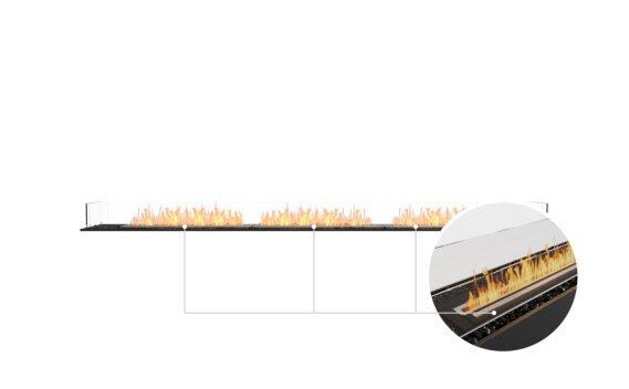 Flex 122BN Bench - Ethanol - Black / Black / Installed View by EcoSmart Fire