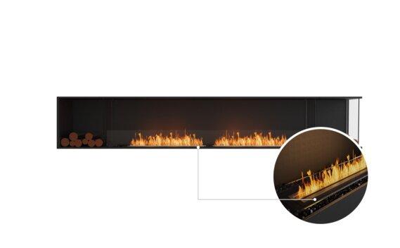 Flex 122RC.BX2 Right Corner - Ethanol - Black / Black / Installed View by EcoSmart Fire