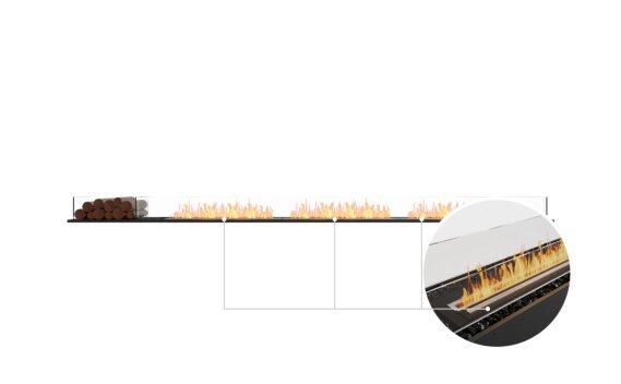 Flex 140BN.BX1 Bench - Ethanol - Black / Black / Installed View by EcoSmart Fire
