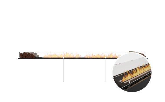 Flex 140BN.BX2 Bench - Ethanol - Black / Black / Installed View by EcoSmart Fire