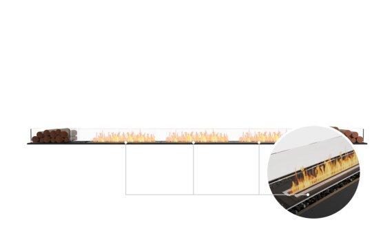 Flex 158BN.BX2 Bench - Ethanol - Black / Black / Installed View by EcoSmart Fire