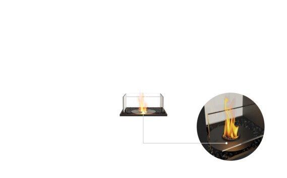Flex 18BN Bench - Ethanol - Black / Black / Installed View by EcoSmart Fire