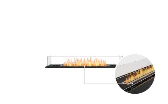 Flex 50BN Bench - Ethanol - Black / Black / Installed View by EcoSmart Fire