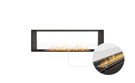 Flex 68DB Double Sided - Ethanol - Black / Black / Installed View by EcoSmart Fire