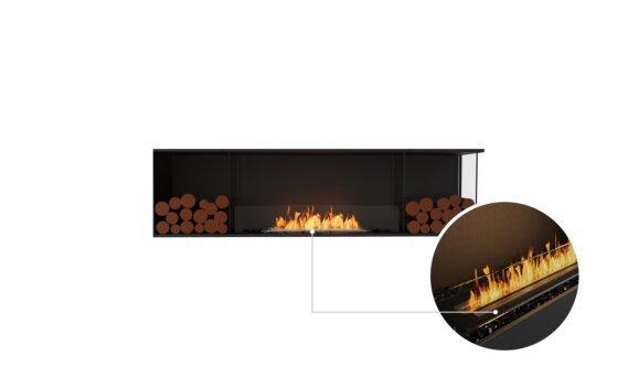 Flex 78RC.BX2 Right Corner - Ethanol - Black / Black / Installed View by EcoSmart Fire