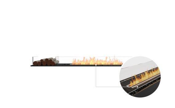 Flex 86BN.BX1 Bench - Ethanol - Black / Black / Installed View by EcoSmart Fire