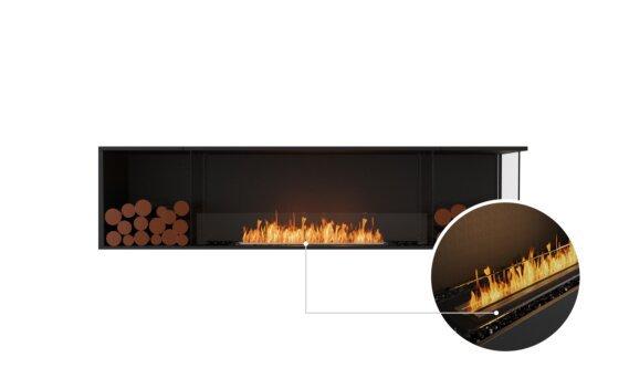 Flex 86RC.BX2 Right Corner - Ethanol - Black / Black / Installed View by EcoSmart Fire