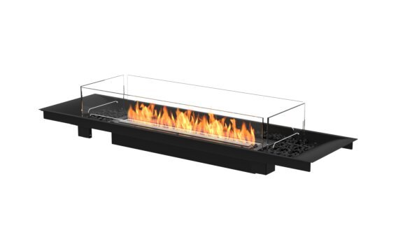 Linear Curved 65 Fire Pit Kit - Ethanol - Black / Black / Indoor Safety Tray by EcoSmart Fire